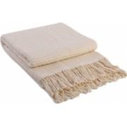 Patura lana merinos Valentini Bianco Rogojka densitate 385 g/m2 crem 140 x 200 cm