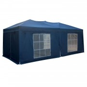 Happy Garden Tente de réception MISTRAL pliante 3 × 6m bleu avec panneaux