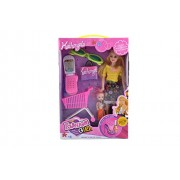 KidzFan™ Fashion Girl with Little Baby Doll with Mobile, Shopping Cart, Goggles and Many More | Rich Quality