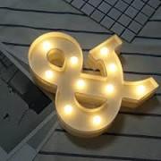 """Semn Volumetric Luminos cu LEDuri """"&"""" de Inchiriat"""