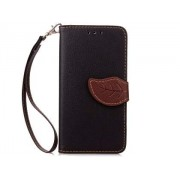 Slim Synthetic Leather Wallet Case with Stand for HTC Desire 520 - HTC Leather Wallet Case (Black/Brown)