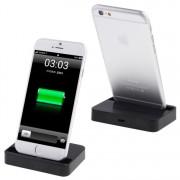 Asztali töltő iPhone X / iPhone 8 & 8 Plus / iPhone 7 & 7 Plus / iPhone 6 & 6s & 6 Plus & 6s Plus / iPad - FEKETE