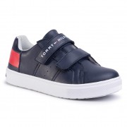 Сникърси TOMMY HILFIGER - Low Cut Velcro Sneaker T3B4-30719-019Y004 S Blue/White//Red Y004