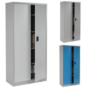Aktenschrank Boston T130, Metallschrank Büroschrank, 47kg 2 Türen 180x85x40cm ~ Variantenangebot