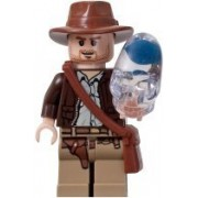 LEGO Indiana Jones Kingdom of the Crystal Skull Loose Indiana Jones Minifigue [With Crystal Skull]