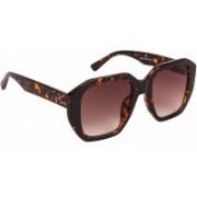 Voyage Retro Square Sunglasses(Brown)