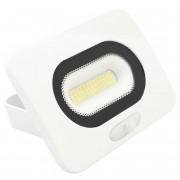 Tracon RSMDLFM10 LED-es, SMD fényvető, mozgásérzékelővel, 10 W teljesítménnyel, fehér színben, 4000K színhőmérséklettel, IP65-ös védelemmel, 750 lm fényerővel