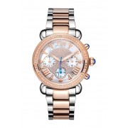 JBW Womens Victory Diamond Bracelet Watch 37mm - 016 ctw TWO-TONE SILVER AND ROSE GOLD