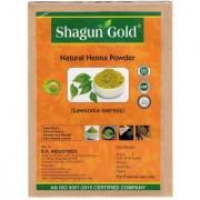 Shagun Gold Chemical Free Henna For Hair Color Hair Care- (240 Gram 4 Packets)