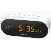 Rádiós ébresztőóra borostyán színű LED-es kijelzővel fehér SRC 1100 W