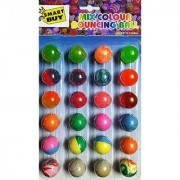 Small Bouncy Crazy Jumping Balls Set 24pcs Return Gift for Kids (Small Balls)