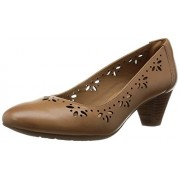 Clarks Women's Beige Leather Pumps - 5 UK/India (38 EU)