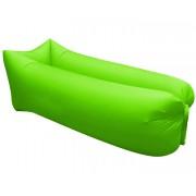 Saltea Gonflabila tip Sezlong Lazy Bag pentru Plaja sau Piscina + Rucsac Depozitare, culoare Verde deschis