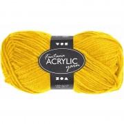 Merkloos 3x stuks geel acryl garen 80 meter - Hobbybasisvoorwerp