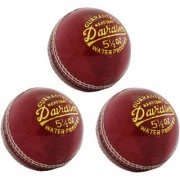 GENERIC DEVIDSON Leather Cricket Ball for Practice Set of 3 PC