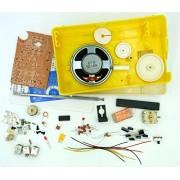 DIY homebrew AM FM high sensitivity BS 618 super radio receiver IC use production kit medium size single battery use ZX 620