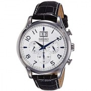 Seiko Dress Chronograph White Dial Mens Watch - Spc155P1