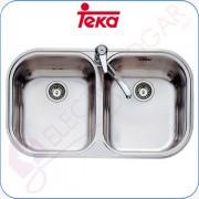 Fregadero Teka Stylo 2C, Acero inoxidable 18/10, profundidad 170mm, mu