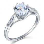 Inel Love Wedding Simulated Diamond Argint 925 Marimea 6