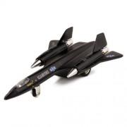 Kinsmart X Planes Air Force Sr 71 A Blackbird Die Cast Jet Plane Toy with Pull Back Action (Black)