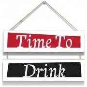100yellow Time To Drink Wall Door Hanging Board Plaque Sign For Wall Dcor (7 X 12 Inch)