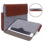 Business Felt Bag Laptop Sleeve Cae with Pen Slot for reMarkable 10.3 inch - Brown / Grey