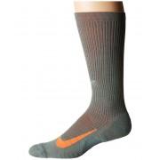 Nike Elite Merino Cushioned Crew Running Socks Clay GreenSequoiaHyper Crimson
