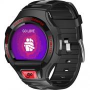Smartwatch Smart Go Rezistent La Apa Negru Alcatel