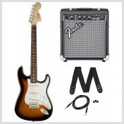 Elektrický gitarový set Squier Stratocaster Brown Sunburst + kombo Frontman 10G Fender
