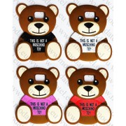 Samsung Galaxy S6 G920 (силиконов калъф) Moschino 'Teddy Bear style' + подарък LCD протектор за гърба