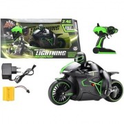 High Speed 2.4 GHz Lightning Remote Control RTR Motorcycle with Leaning Bright LED High Performance Rubber Grip Tires