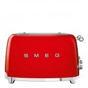 SMEG Retro Brödrost kvadrat 4 skivor Röd