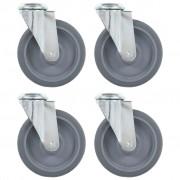 vidaXL 8 pcs Roulettes pivotantes à trou de boulon 125 mm