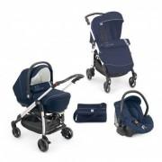 Cam combi family passeggino trio blu