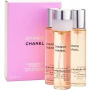 Chanel Chance Eau de Toilette para mulheres 3 x 20 ml recarga