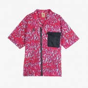 Nike Acg Ss Top Aop For Men In Red - Size Xl