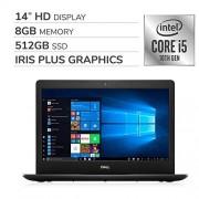 Dell Inspiron 2020 Premium 14 HD Laptop Notebook Computer, 4-Core 10th Gen Intel Core i5-1035G4 up to 3.7 GHz, Iris Plus Graphics, 8GB RAM, 512GB SSD, No DVD,Webcam,Bluetooth,Wi-Fi,HDMI,Windows 10