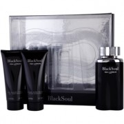 Ted Lapidus Black Soul lote de regalo I. eau de toilette 100 ml + bálsamo after shave 100 ml + gel de ducha 100 ml