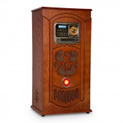 Auna Musicbox, jukebox, cutie muzicală, placă turnantă, CD player, BT, USB, SD, tuner FM, lemn (BX - Musicbox)