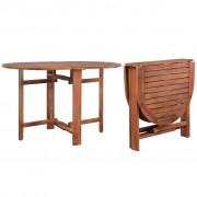 vidaXL Masă de grădină, 120 x 70 x 74 cm, lemn masiv de acacia