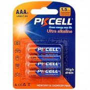ER PKCELL 1.5V Batería Alcalina AAA Dióxido De Manganeso Y Zinc Pilas Secas -Naranja&blue