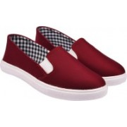 Jade Lycra Fabric Loafer Loafers For Women(Maroon)