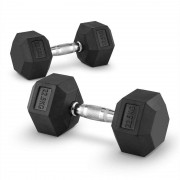 Capital Sports Hexbell Lot de 2 haltères courts Dumbbell 22,5kg