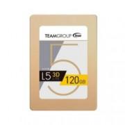 """SSD 120GB TeamGroup L5 LITE 3D, SATA 6Gb/s, 2.5""""(6.35 cm), скорост на четене 470MB/s, скорост на запис 300MB/s"""