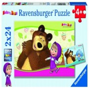 Puzzle Masha si ursul, 2x24 piese Ravensburger