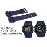 W-735H-2 AQ-S810W-2 Casio kék műanyag szíj