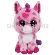 New TY Plush Animals Beanie Boos Sugar Pie Pink Unicorn Toy 15cm/6'' Cute Ty Big Eyed Stuffed Animal Kids Toys for Children Gift
