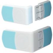 Futaba Cabinet Cupboard Drawer Child Safety Door Lock - Blue - Pack of 2