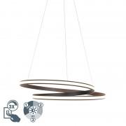 QAZQA Modern hänglampa svart 74 cm inkl LED 3 steg dimbar - Rowan