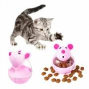 Hranitor tip jucarie interactiva cu eliberare lenta mancare pentru pisici sau alte animale de companie